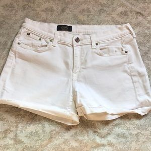 J.Crew Washed White Jean Shorts